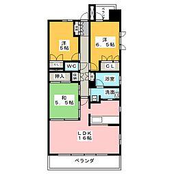 Cassia桜山[9階]の間取り