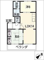 ピーチシャトーコジマ[1階]の間取り