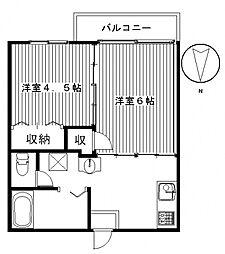 ヒグチハイツ[102号室号室]の間取り