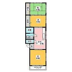 第2北川コーポラス[2階]の間取り
