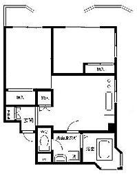 東京都荒川区東尾久3丁目の賃貸マンションの間取り