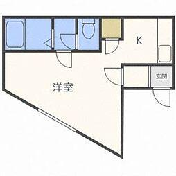 北海道札幌市東区北九条東9丁目の賃貸アパートの間取り
