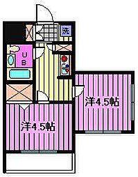 クレール浦和[1階]の間取り