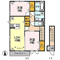 (仮)D−room総社町植野[203号室]の間取り