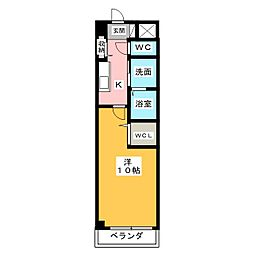 エクシヴコート[4階]の間取り
