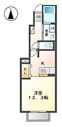ベルファミーユI[1階]の間取り
