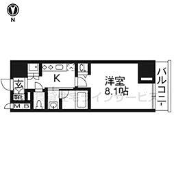 ベラジオ京都西大路802号室[8階]の間取り