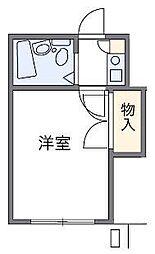 JR埼京線 与野本町駅 徒歩13分の賃貸アパート 2階1Kの間取り