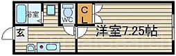 北花田コーポB棟[3階]の間取り