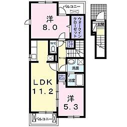 コンヴィスタ B[2階]の間取り