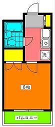 神奈川県川崎市宮前区宮前平2丁目の賃貸マンションの間取り