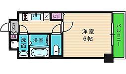 U-ro鶴橋駅前 7階1Kの間取り