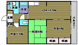 ファミーユ千代田[1階]の間取り