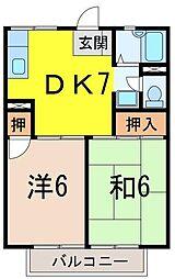 静岡県沼津市常盤町の賃貸アパートの間取り