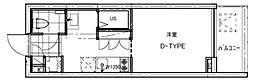 B CITY APARTMENT TACHIKAWA[211号室号室]の間取り