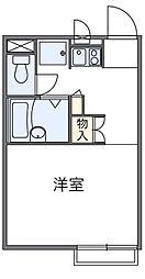 愛知県豊明市二村台4丁目の賃貸アパートの間取り