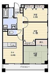 シーサイド六浦弐番館[4階]の間取り