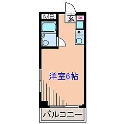 ビューハイツ大倉山[3階]の間取り