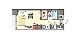 家具・家電付きライベストコート白金[2階]の間取り