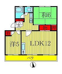 パストラルハイム 3号棟[2階]の間取り