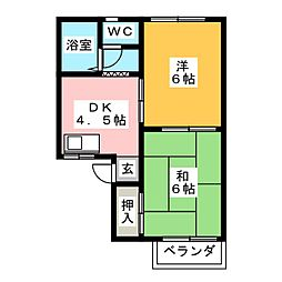 リーベハイツ[2階]の間取り