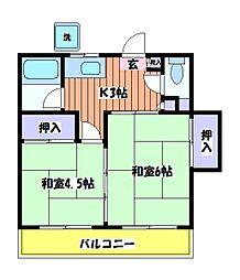 晴風荘[2階]の間取り