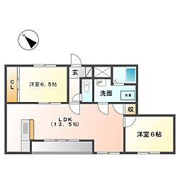三重県四日市市別名5丁目の賃貸マンションの間取り