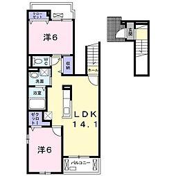 リアンコート[2階]の間取り
