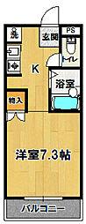 ウイング二の宮[208号室]の間取り