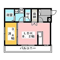 パインズハイム[1階]の間取り