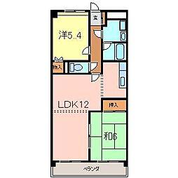 メゾンドヨサミA[107号室]の間取り