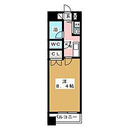 グラン・ドミール新寺[6階]の間取り