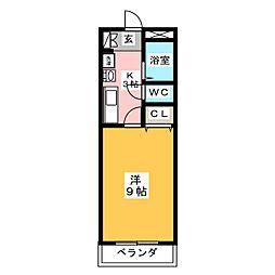 愛知県名古屋市中川区長須賀3の賃貸アパートの間取り