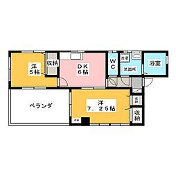 レアールマンションアキタ[2階]の間取り