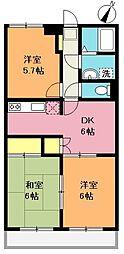 新井マンション[3階]の間取り
