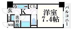JR東海道・山陽本線 神戸駅 徒歩14分の賃貸マンション 7階1Kの間取り