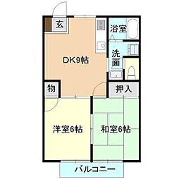 K・Nシティ[1階]の間取り