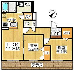 仮称堺市堺区シャーメゾン南丸保園[1階]の間取り