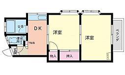 コーポサンライフ弘明寺[1階]の間取り