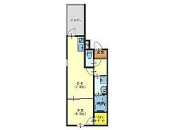 フジパレス新深江VII番館[2階]の間取り