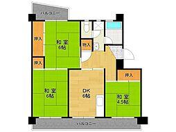 UR中山五月台住宅8号棟[306号室]の間取り