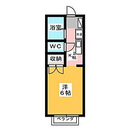 エクセレント伊勝[2階]の間取り