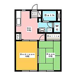 ビビアン B棟[1階]の間取り
