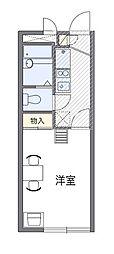 西武池袋線 仏子駅 徒歩6分の賃貸マンション 3階1Kの間取り