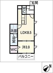 仮)幸心2丁目新築アパートA棟[3階]の間取り