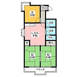 グランメゾン金城[4階]の間取り