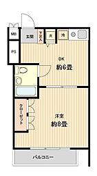 メゾン岩崎[0303号室]の間取り