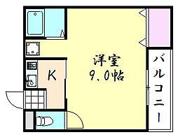 ローヤルハイツ鈴木[205号室]の間取り