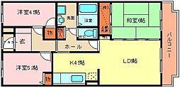 ドミール浜寺[502号室]の間取り