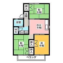セジュール井上C棟[1階]の間取り